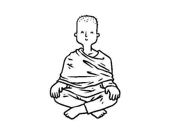Buddhist apprentice coloring page