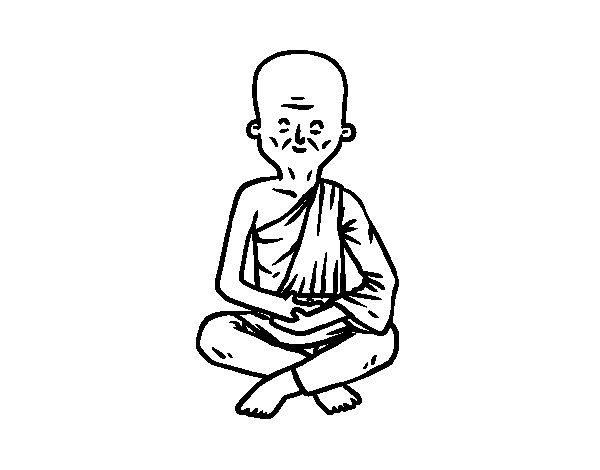Buddhist Master coloring page