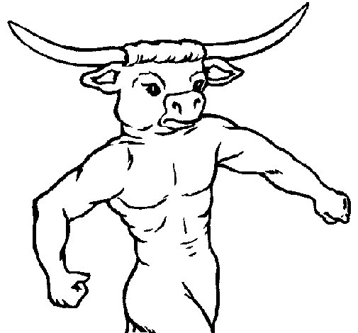 Buffalo head coloring page