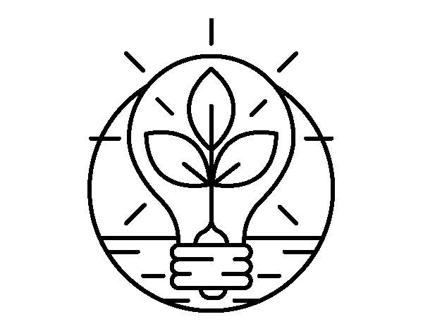Bulb with leaves coloring page