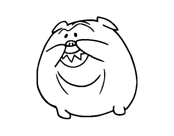 Bulldog Smiling Coloring Page Coloringcrew Com