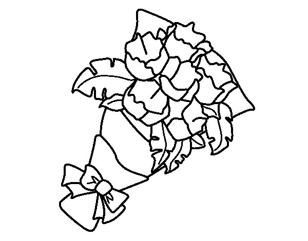Bunch of carnations coloring page
