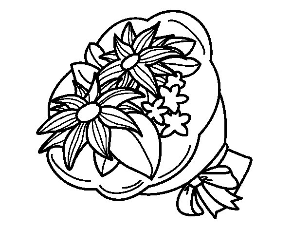 Bunch of chrysanths coloring page