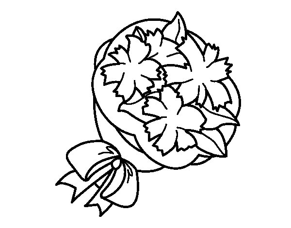 Bunch of clover coloring page