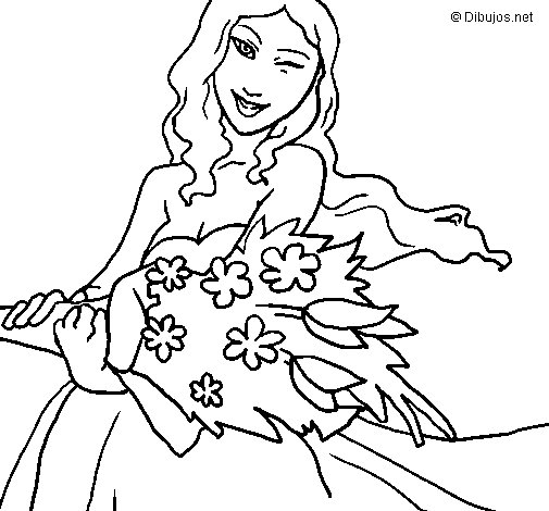 Bunch of flowers coloring page