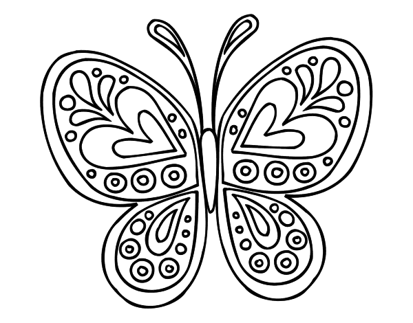 Butterfly mandala coloring page - Coloringcrew.com