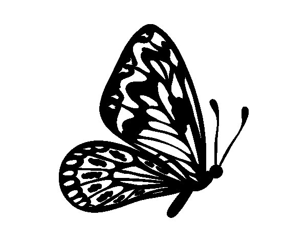 Butterfly with normal wings coloring page