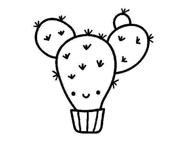 Cactus pear coloring page Coloringcrewcom