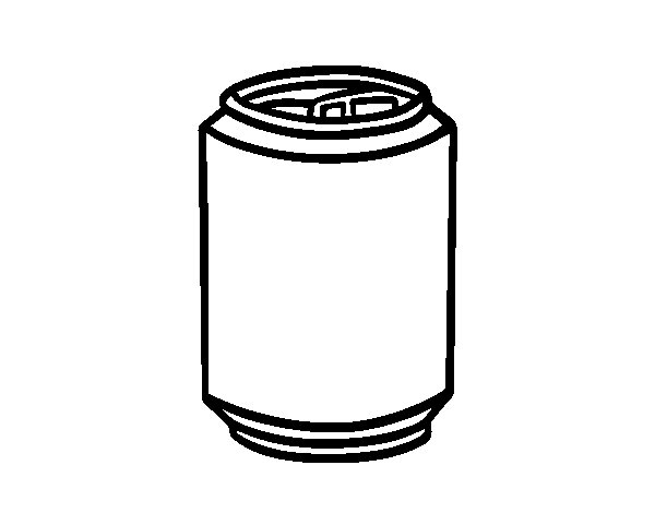 Can of soda coloring page
