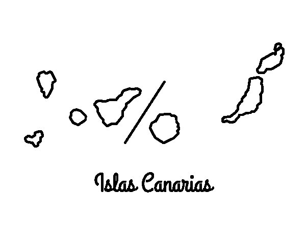 Canary Islands coloring page