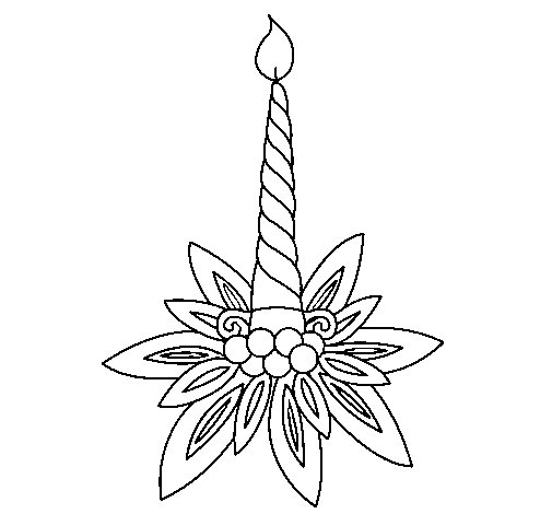 Candle II coloring page