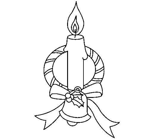 Candle III coloring page