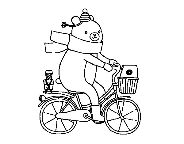 Carrier bear coloring page