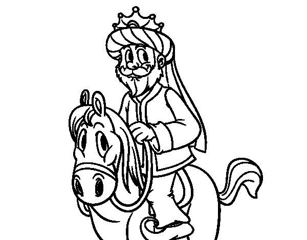 Caspar on horseback coloring page