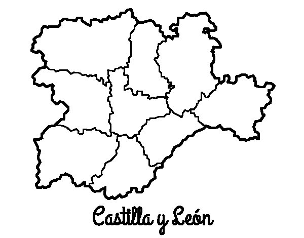 Castile and León coloring page