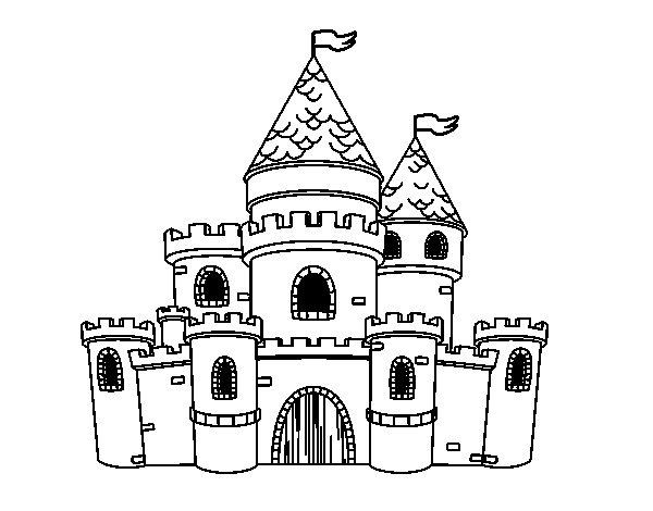 Castle princesses coloring page