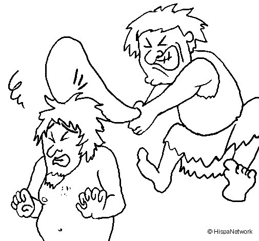 Cave dwellers coloring page