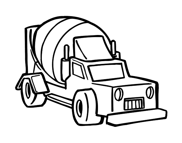 concrete mixer truck coloring pages - photo#14