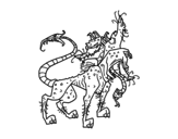 Cerberus coloring page