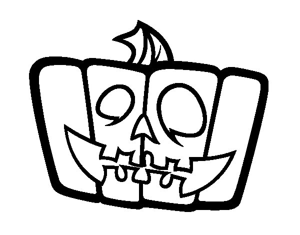 Cheerful pumpkin coloring page