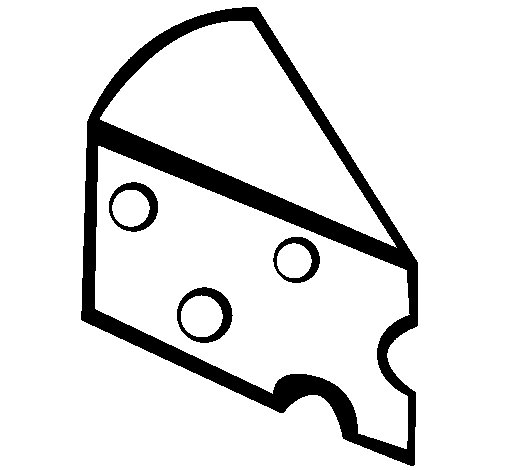 Cheese coloring page - Coloringcrew.com