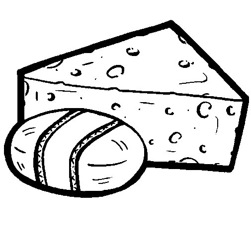 Cheeses coloring page