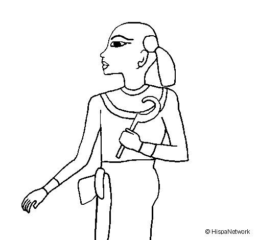 Child pharaoh coloring page