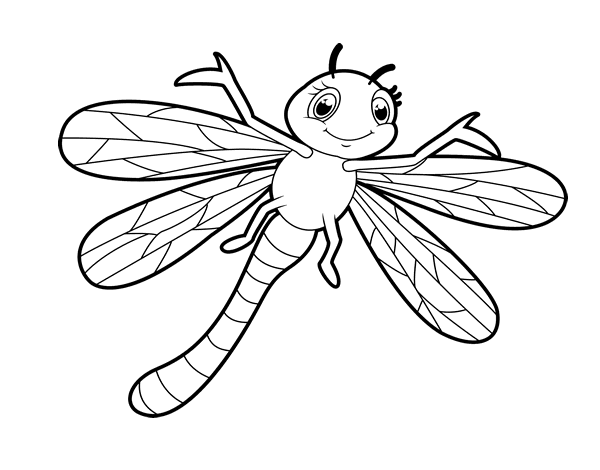 Children dragonfly coloring page Coloringcrew