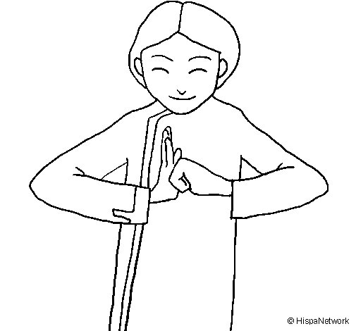 Chinese greeting II coloring page