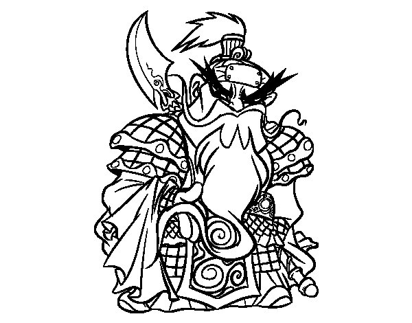 Chinese warrior Guan Yu coloring page