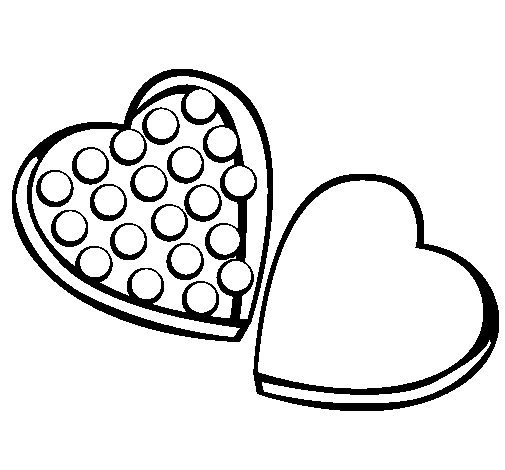 Chocolates coloring page
