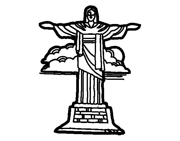 Christ the Redeemer coloring page