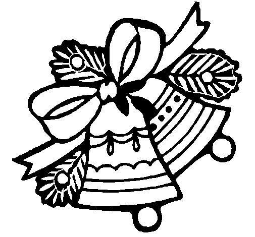 Christmas bells coloring page