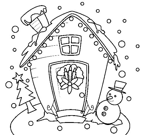 christmas card coloring page