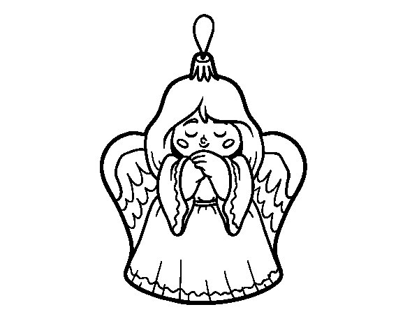 Christmas decoration Little angel coloring page