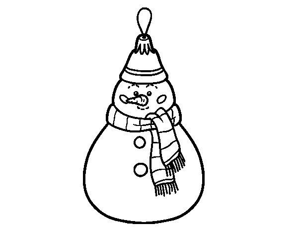 Christmas decoration Snowman coloring page