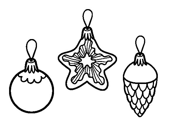 Christmas decorations coloring page
