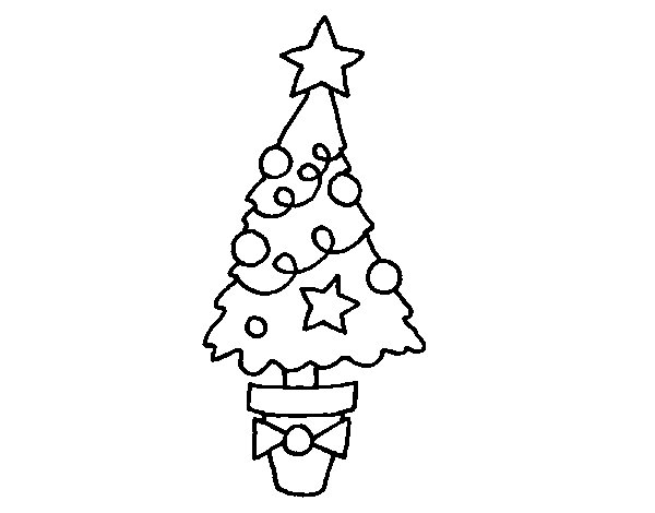 Christmas fir coloring page