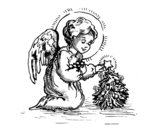 Christmas Little angel coloring page