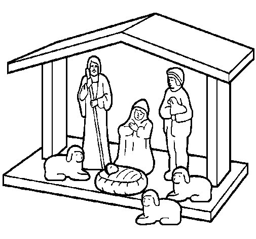 christmas nativity coloring page - Christmas Nativity Coloring Pages