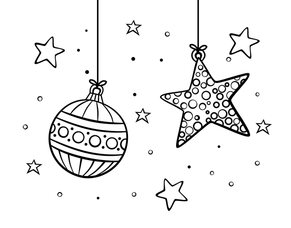 christmas ornaments coloring page coloringcrewcom - Christmas Ornament Coloring Pages