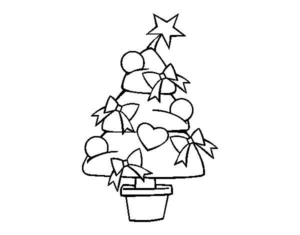 Christmas tree 3 coloring page