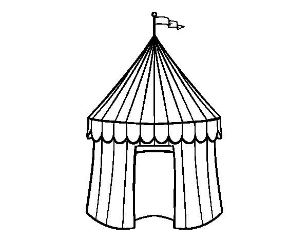 Circus tent coloring page  Coloringcrewcom