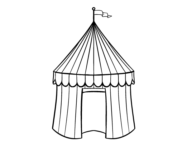 Circus tent coloring page - Coloringcrew.com