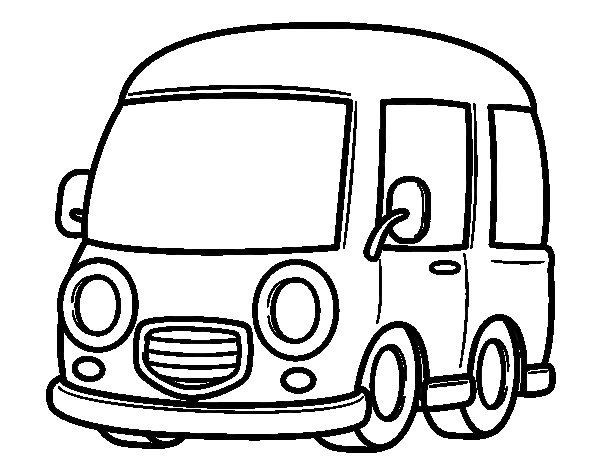Classic van coloring page