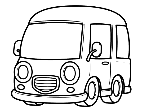 Free Coloring Pages Of Taxi Van
