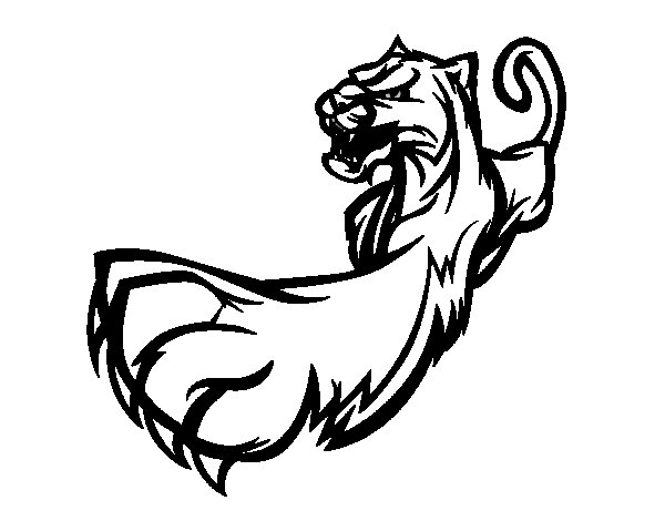 Claw of panther coloring page