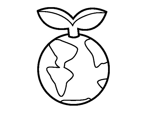 Clean earth coloring page