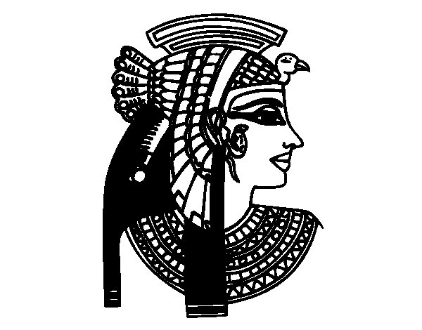 Cleopatra profile coloring page