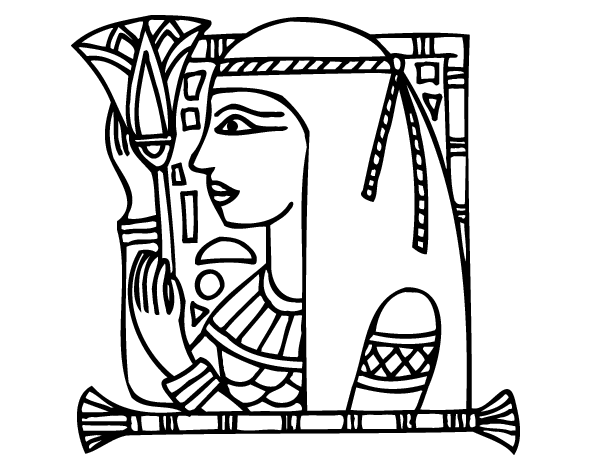 Cleopatra coloring page coloringcrew com